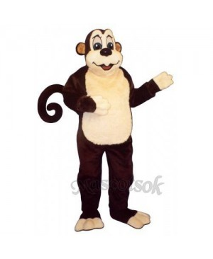 Cute Monkey with Wire Tail Mascot Costume