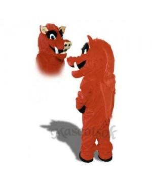Cute Razorback Feral Pig Hog Wild Boar Mascot Costume
