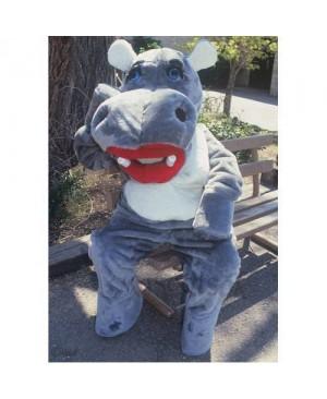 Cute Hillary Hippo Mascot Costume
