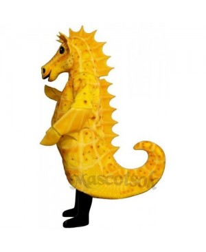 Cute Sammy Seahorse Mascot Costume