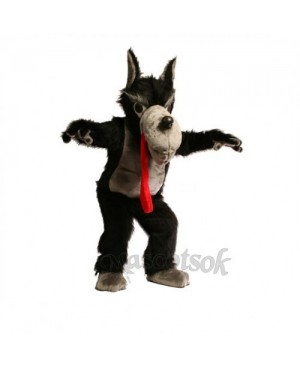 Cute Wolf Mascot Costume
