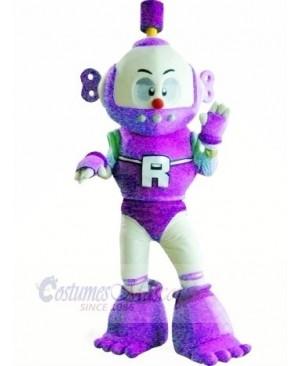 Purple Robot Plush Adult Mascot Costume College