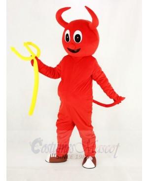 Cute Red Devil Mascot Costume Cartoon