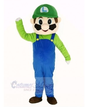 Super Green Mario Mascot Costume Cartoon