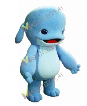High Quality Adult Blue Dolphin Mascot Costume