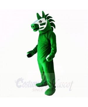 Green Trojan Horse Mascot Costumes Adult