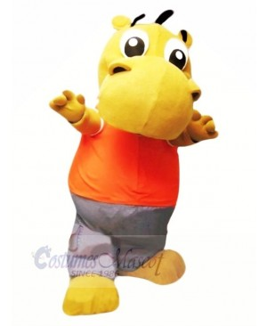 Little Cute Hippo Mascot Costume Cartoon