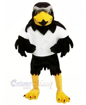 Fierce Falcon with White T-shirt Mascot Costumes