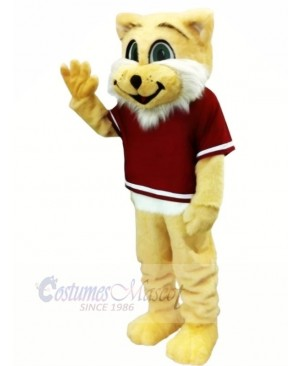 Happy Wildcat Mascot Costumes Cartoon