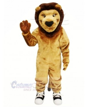 Strong Brown Lion Mascot Costumes Adult