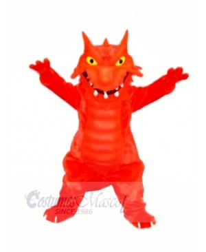 Red Blaze Dragon Mascot Costumes Cartoon