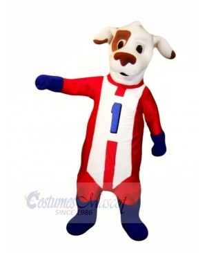 Dash Dog with Red Suit Mascot Costumes Animal