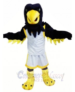 Black Eagle with White Suit Mascot Costumes Animal