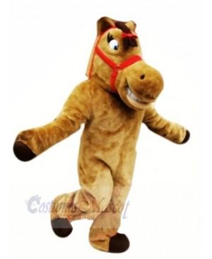 Cute Brown Horse Mascot Costumes Cartoon