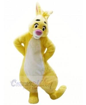 Yellow Rabbit with Big Eyes Mascot Costumes Animal