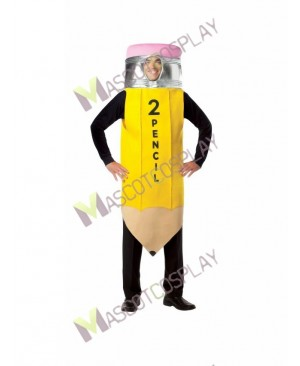 High Quality Adult Yellow Pencil Mascot Costume