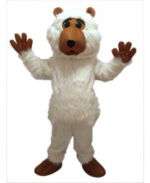 High Quality Realistic Animal White Plush Boris Bear Mascot Costume