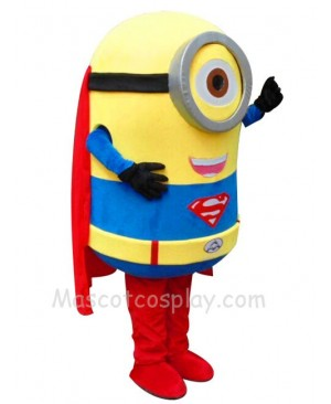 Despicable Me Minions Superman Mascot Costume Fancy Dress Outfit