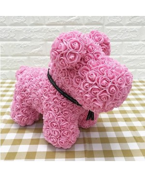 Pink Rose Puppy Dog Flower Puppy Dog Best Gift for Mother's Day, Valentine's Day, Anniversary, Weddings and Birthday