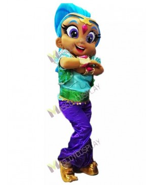 High Quality Adult Shine Genie Mascot Costume from Shimmer and Shine