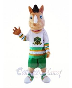 Brwon Unicorn Mascot Costumes Cartoon