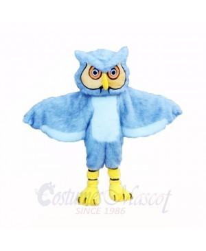 Gray Long Haired Owl Mascot Costumes Cartoon