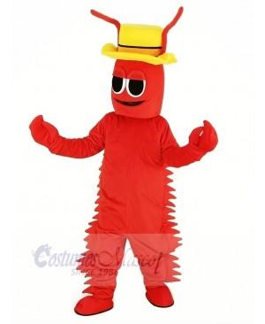 Red Conrad Crawdad Mascot Costume