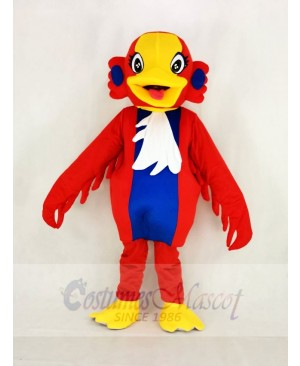 Yellow Head Red Swan Bird Mascot Costume School