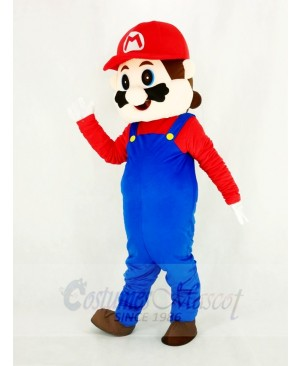 Super Mario Bros with Red Hat Mascot Costume Cartoon