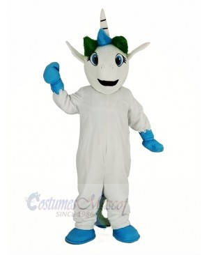 Blue Unicorn Mascot Costume Cartoon