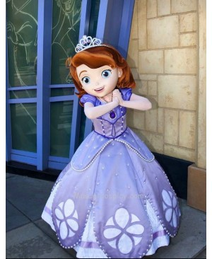 Sofia the First Sophia Princess Mascot Costume Fancy Dress Outfit