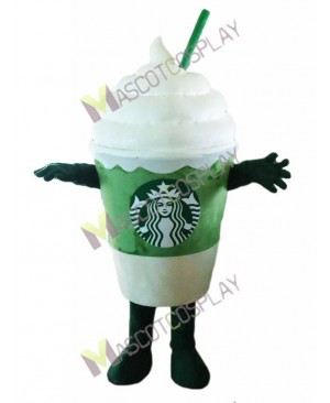 Hot Sale Adorable Starbucks Ice Cream Matcha Frappuccino Mascot Costume