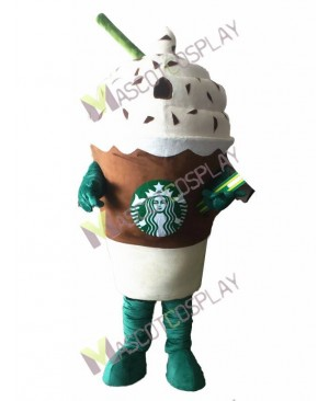 Hot Sale Adorable Starbucks Ice Cream Mocha Frappuccino Mascot Costume