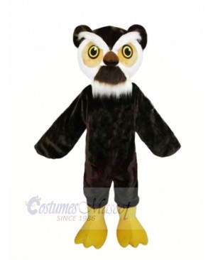 Black Owl with White Eyebrows Mascot Costumes Animal