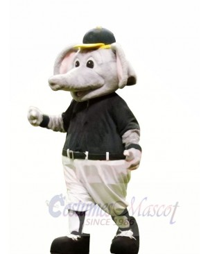 Sport Elephant with Yellow Hat Mascot Costumes Animal