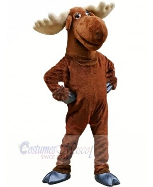 Funny Brown Moose Mascot Costumes Adult