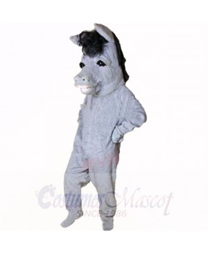 Smiling Grey Donkey Mascot Costumes Cartoon
