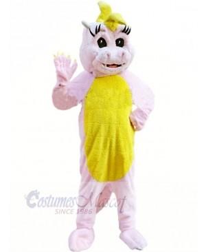 Pink Magic Dragon Mascot Costumes Cartoon
