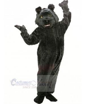 Shaggy Black Bear Mascot Costumes Cartoon