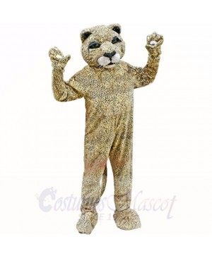 Spotted Brown Leopard Mascot Costumes Adult