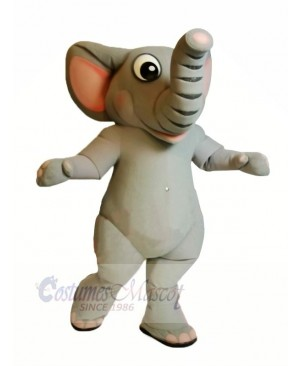 Realistic Grey Elephant Mascot Costumes Cartoon