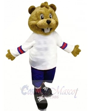 Brown Beaver with Suit Mascot Costumes Animal