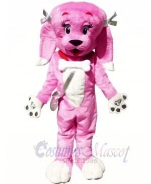 Cute Pink Dog Mascot Costumes Animal