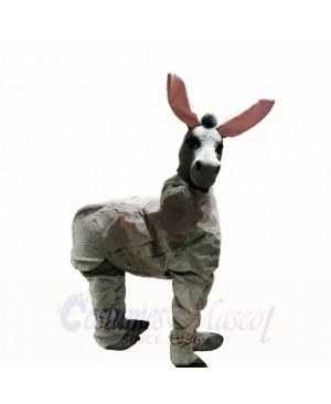 Cute Grey Two Person Donkey Mascot Costumes Cartoon