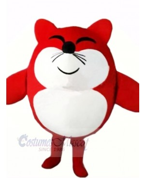 Cute Red Mouse Mascot Costumes Cartoon