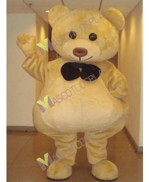 Ted Bear with Blak Bow Mascot Costume