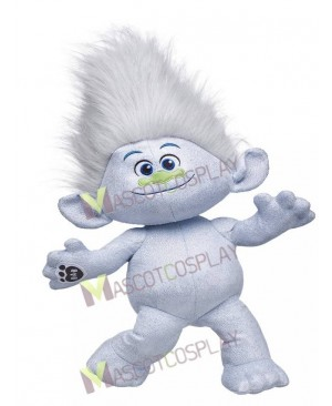 Trolls Guy Diamond Mascot Costume Silver Boy Mascot Costume