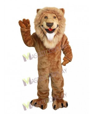 Realistic Animal Friendly Lion Mascot Costume