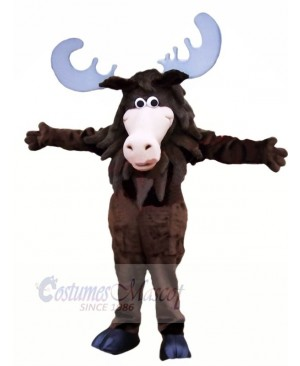 Smiling Black Moose Mascot Costumes Cartoon