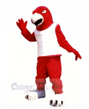 Red Falcon with White Vest Mascot Costumes